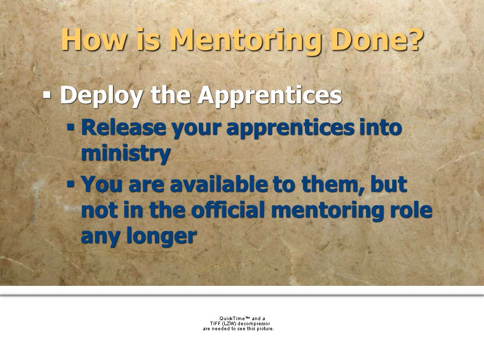 How is Mentoring Done Deploy the Apprentices