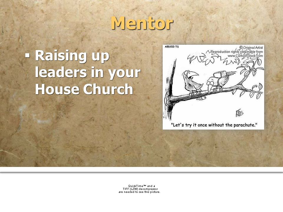 Mentor Raising up leaders in your House Church