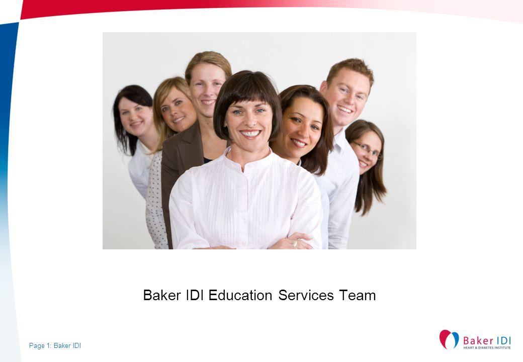 Baker IDI Education Services Team