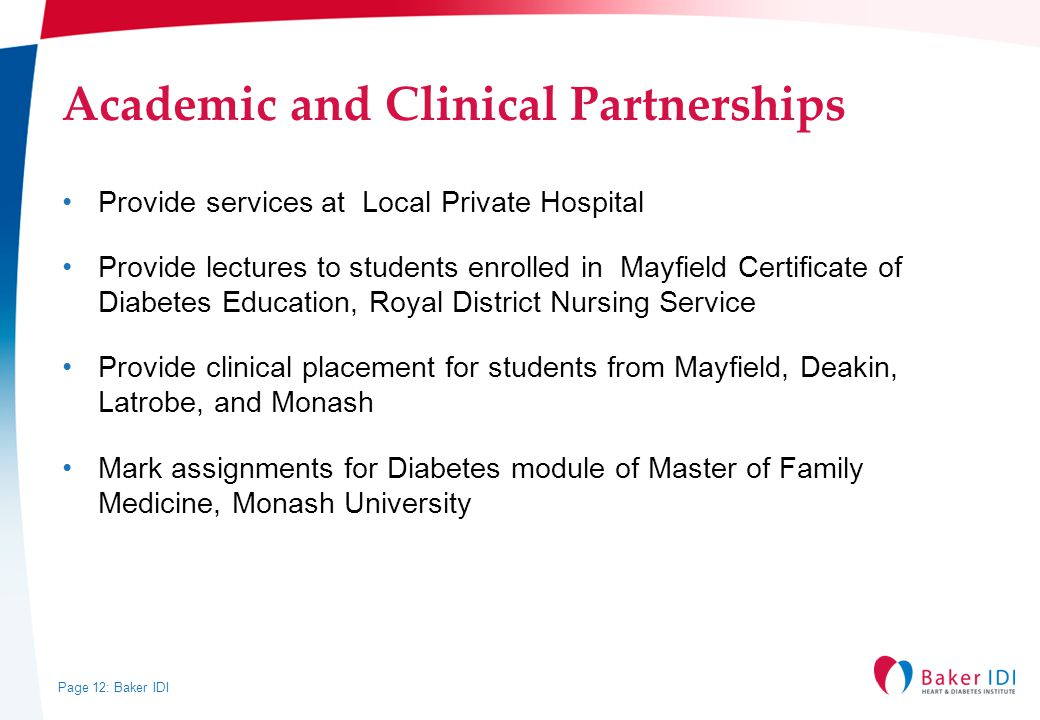 Academic and Clinical Partnerships