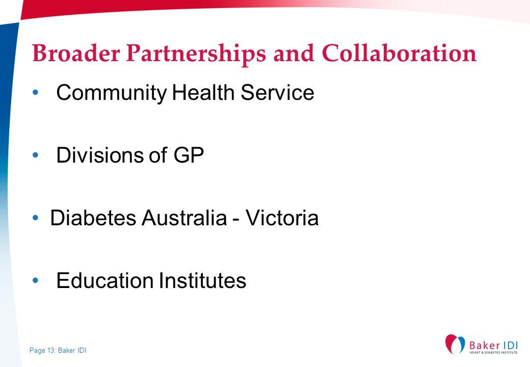 Broader Partnerships and Collaboration