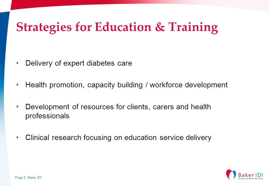 Strategies for Education & Training