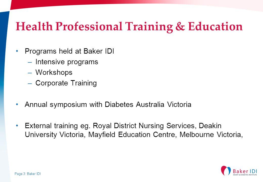 Health Professional Training & Education