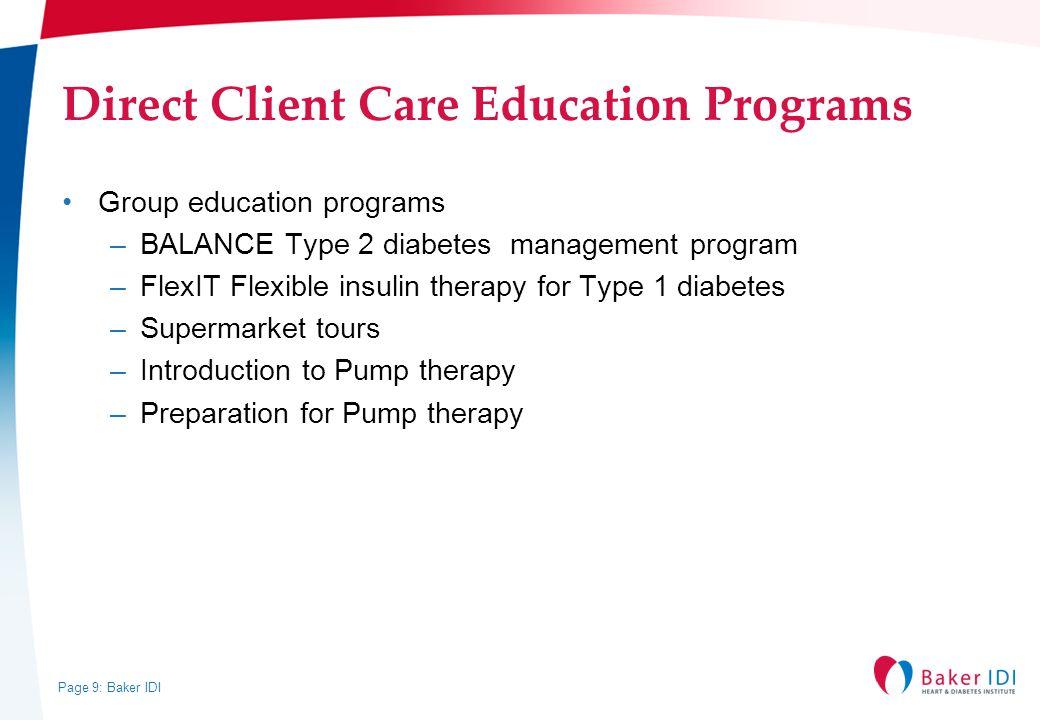 Direct Client Care Education Programs