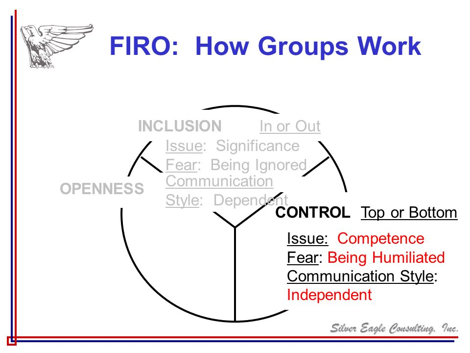FIRO: How Groups Work INCLUSION In or Out