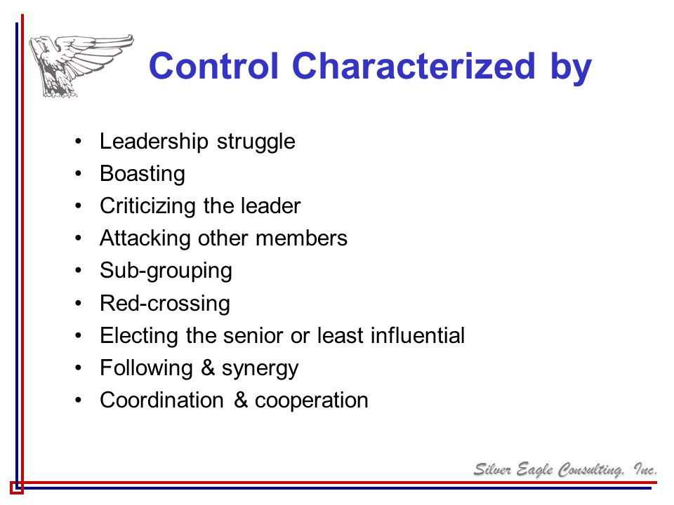 Control Characterized by