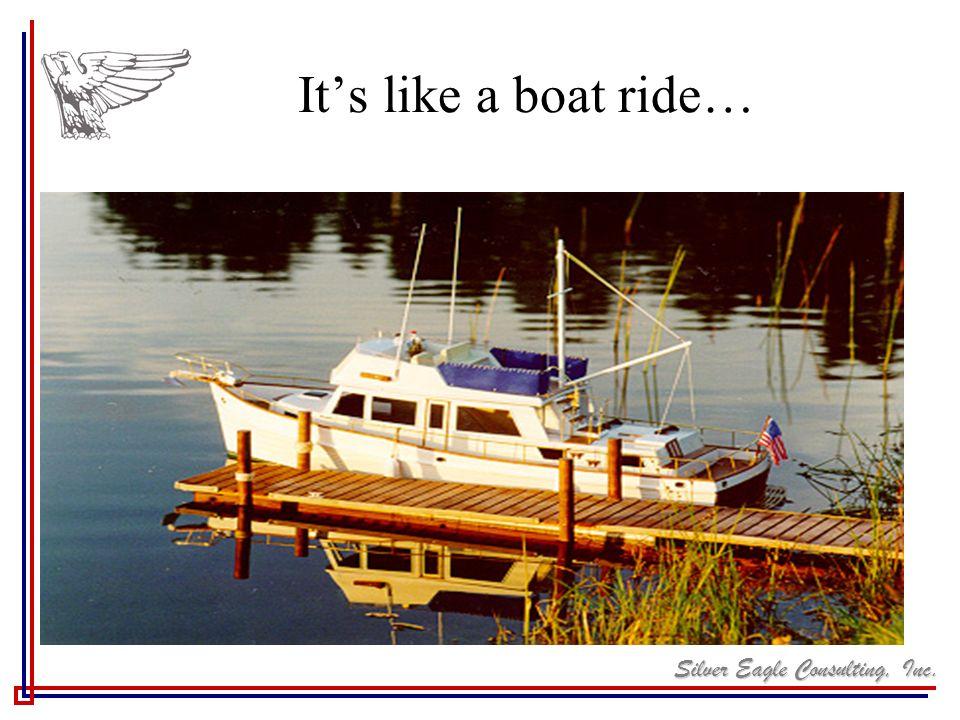 It's like a boat ride…