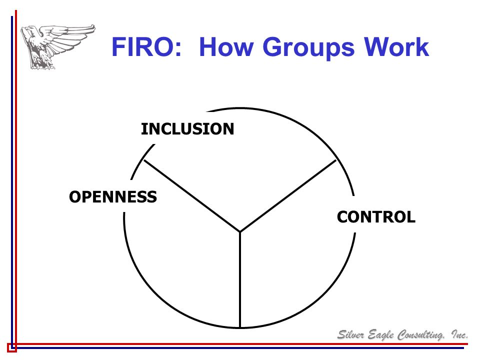 FIRO: How Groups Work INCLUSION OPENNESS CONTROL