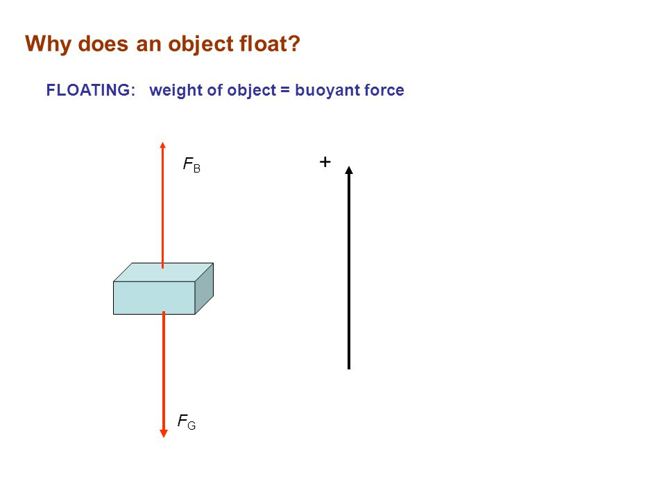 Why does an object float