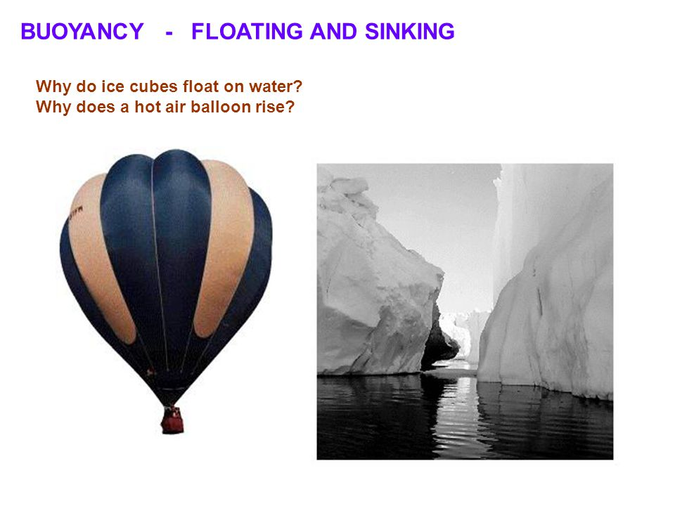 BUOYANCY - FLOATING AND SINKING