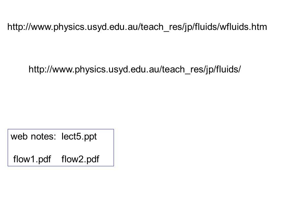 http://www.physics.usyd.edu.au/teach_res/jp/fluids/wfluids.htm http://www.physics.usyd.edu.au/teach_res/jp/fluids/