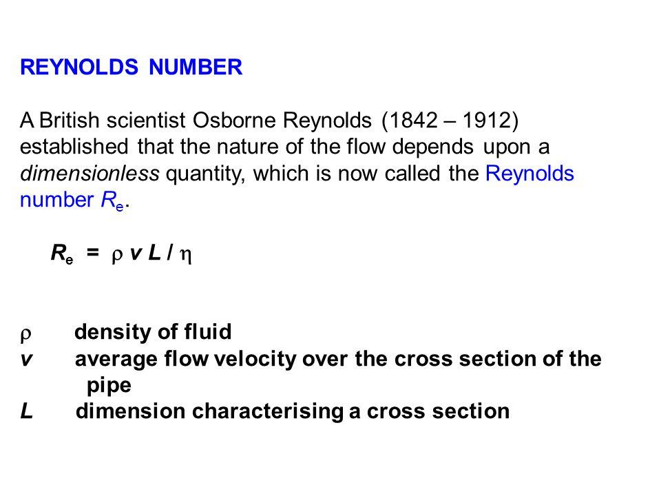 REYNOLDS NUMBER