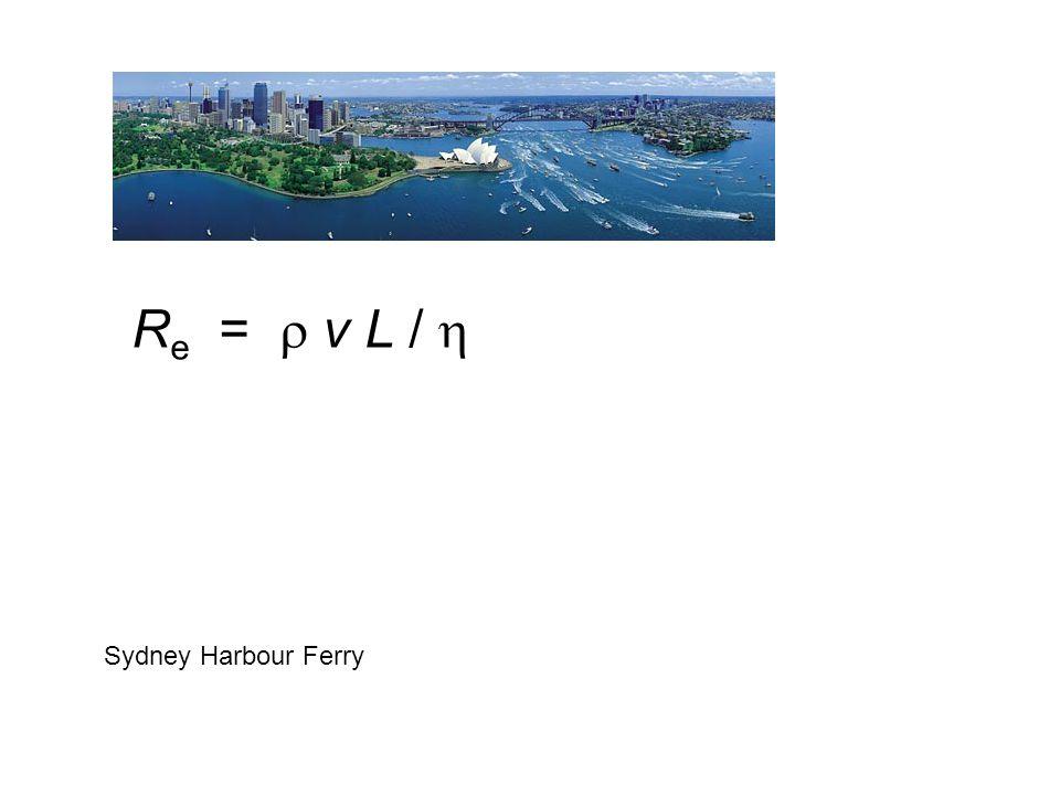 Re =  v L /  Sydney Harbour Ferry