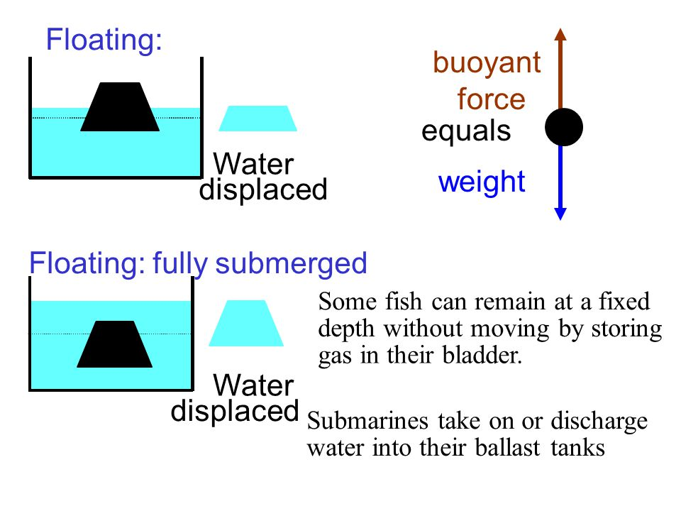 Floating: fully submerged