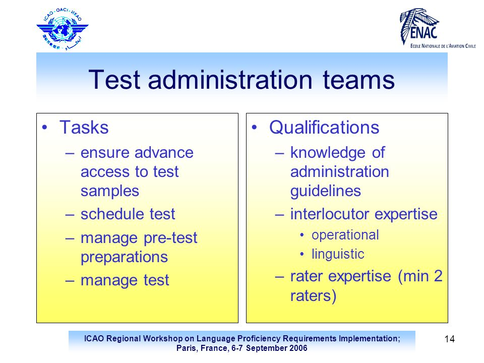 Test administration teams
