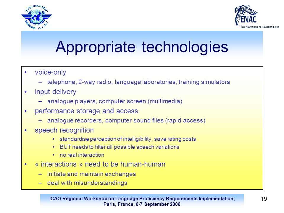 Appropriate technologies