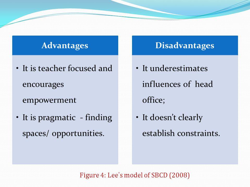 Figure 4: Lee's model of SBCD (2008)
