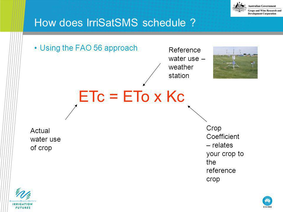 How does IrriSatSMS schedule