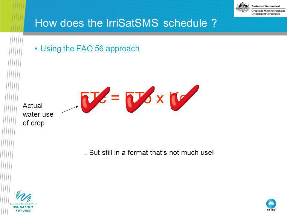 How does the IrriSatSMS schedule