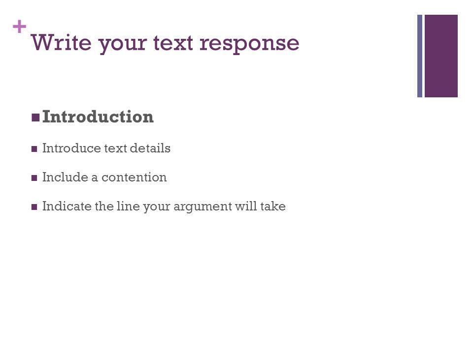 Write your text response