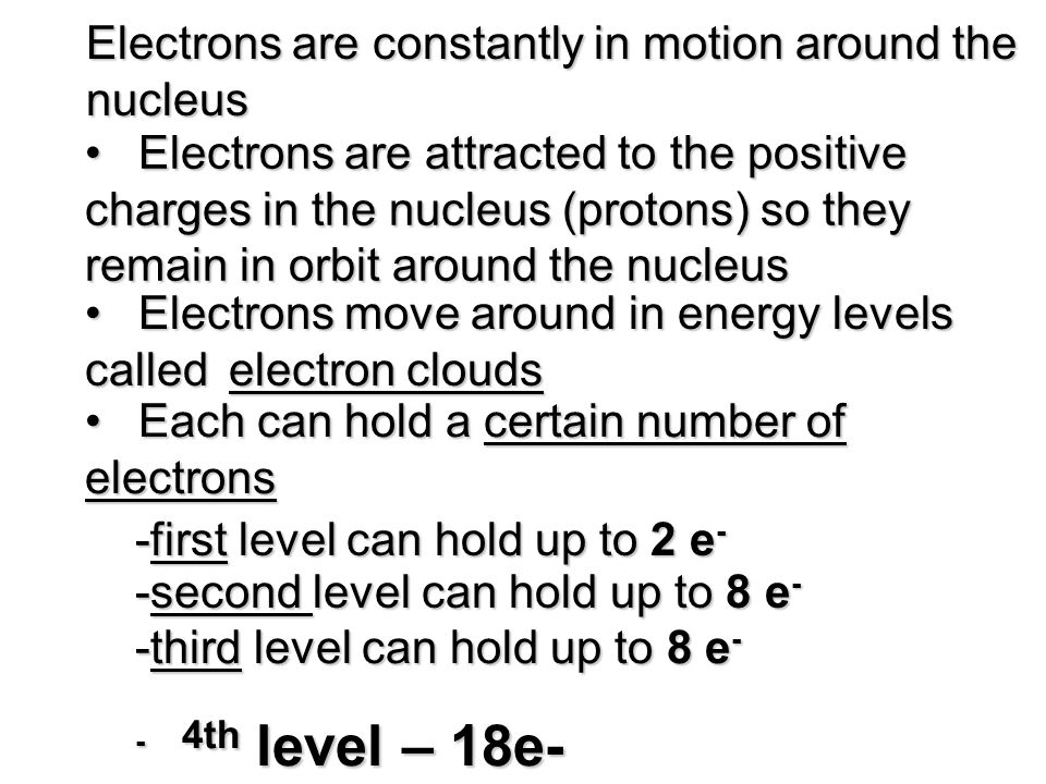 Electrons are constantly in motion around the nucleus