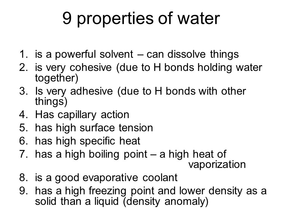 9 properties of water is a powerful solvent – can dissolve things