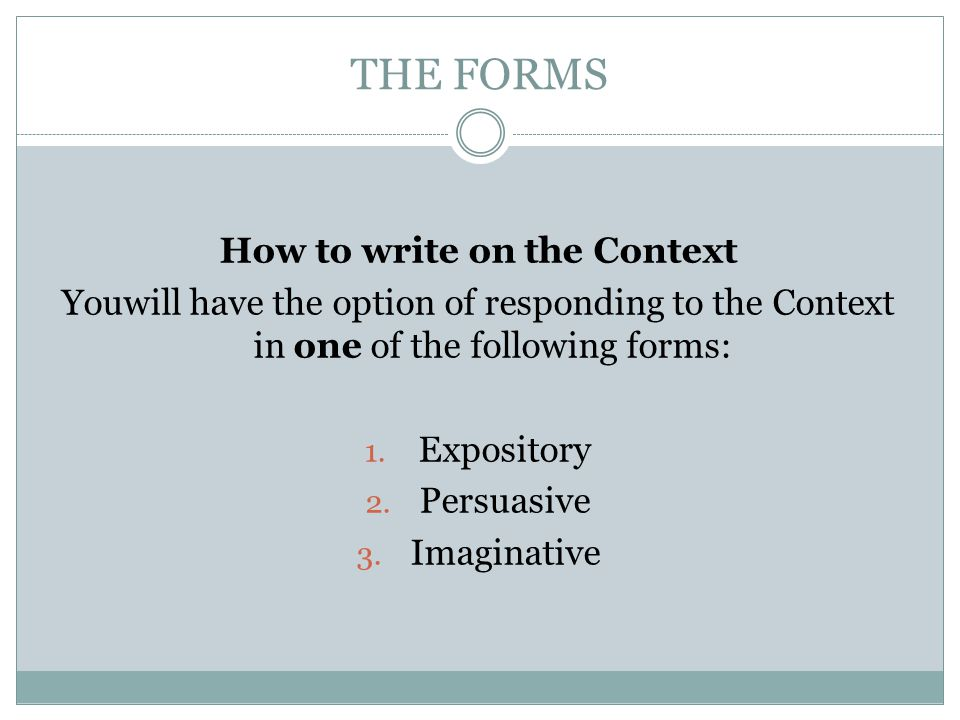How to write on the Context