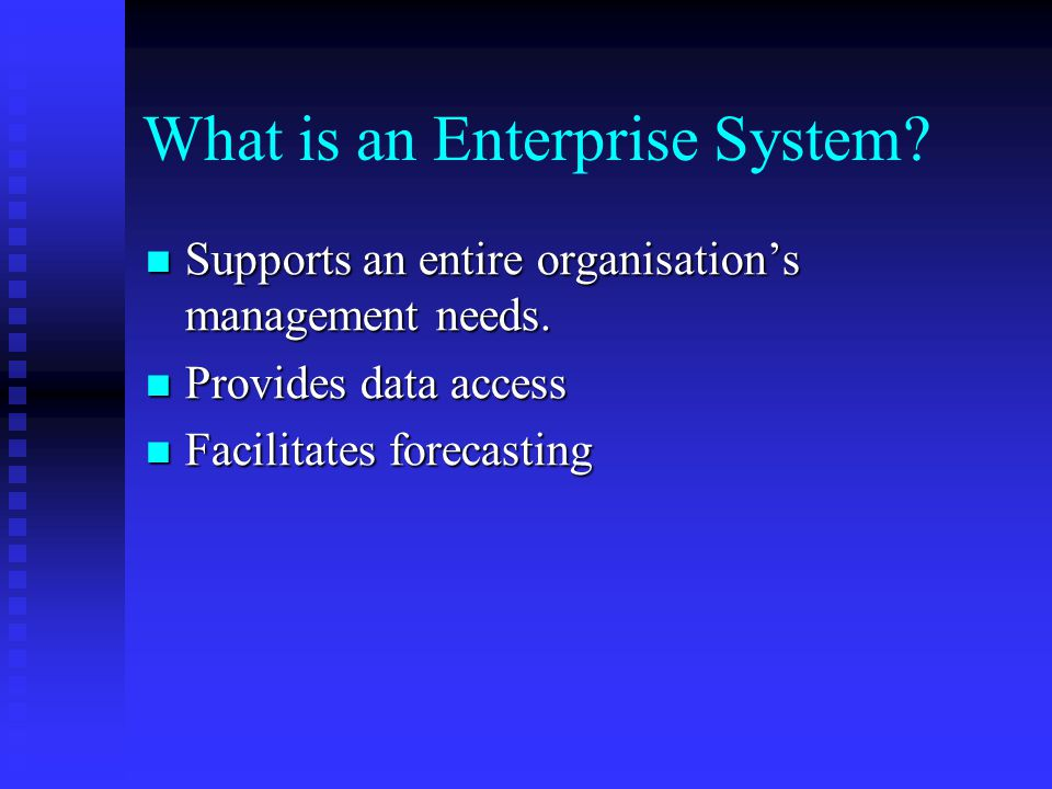 What is an Enterprise System