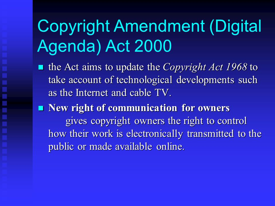 Copyright Amendment (Digital Agenda) Act 2000