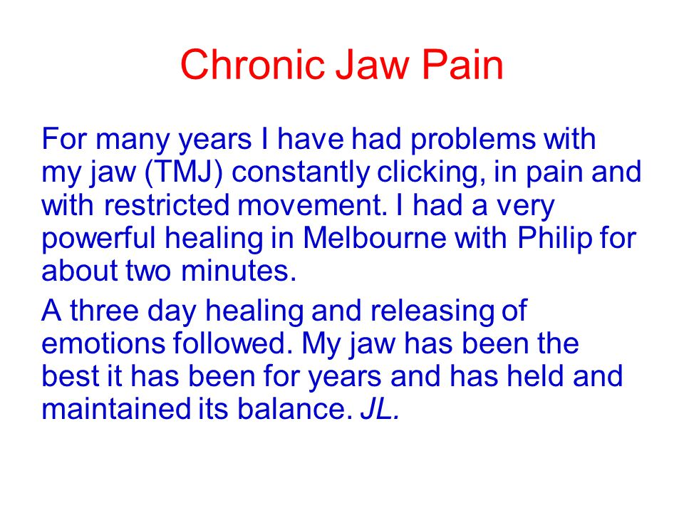 Chronic Jaw Pain