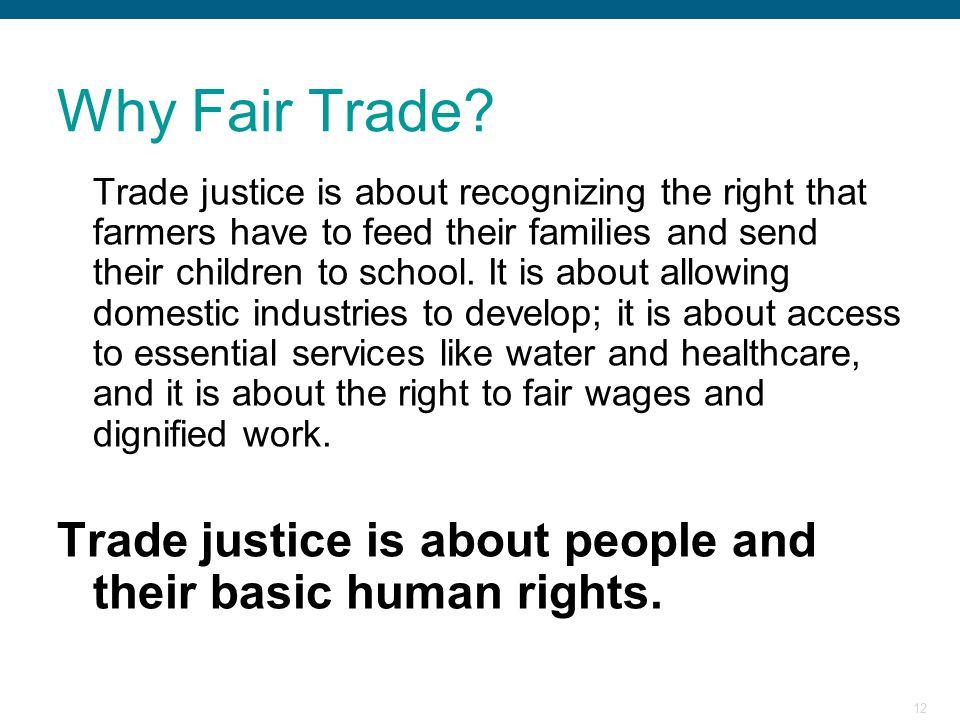 Why Fair Trade