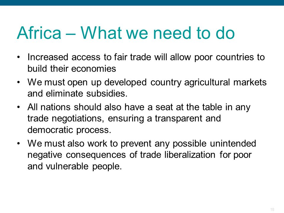 Africa – What we need to do