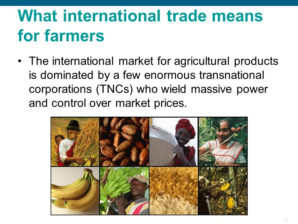 What international trade means for farmers