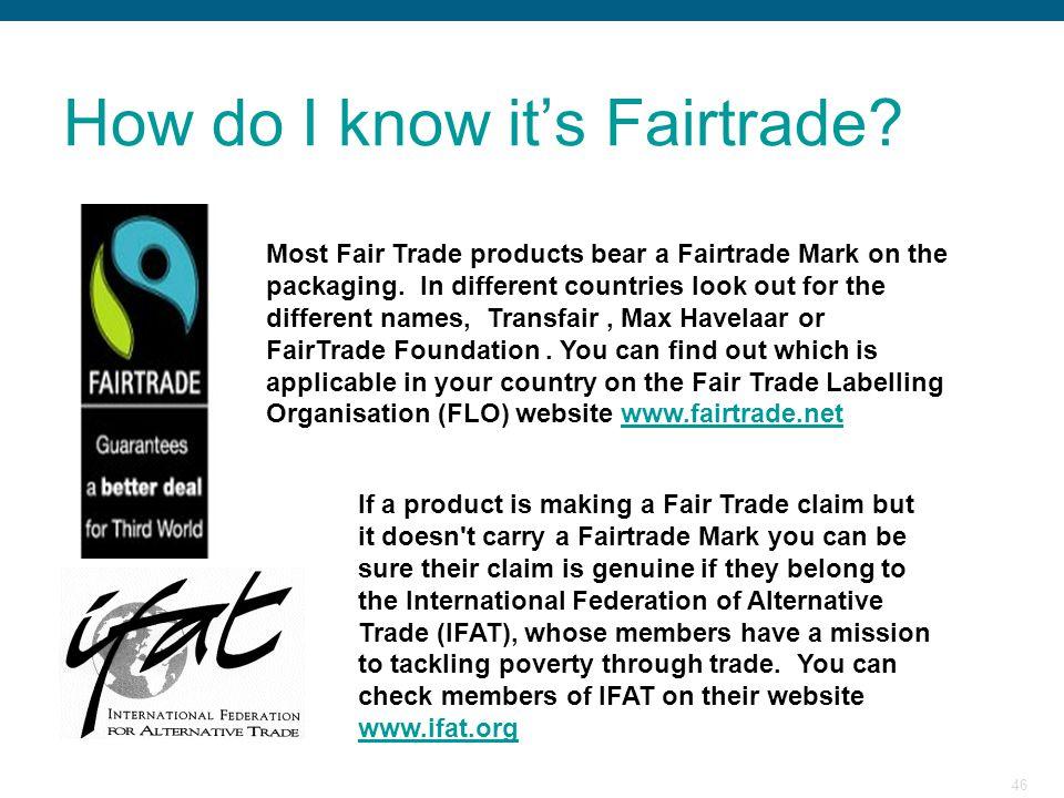 How do I know it's Fairtrade