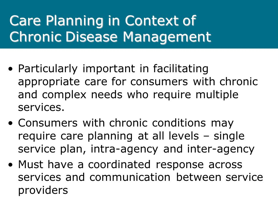 Care Planning in Context of Chronic Disease Management