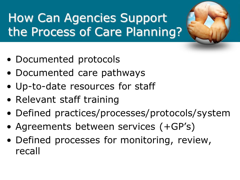 How Can Agencies Support the Process of Care Planning
