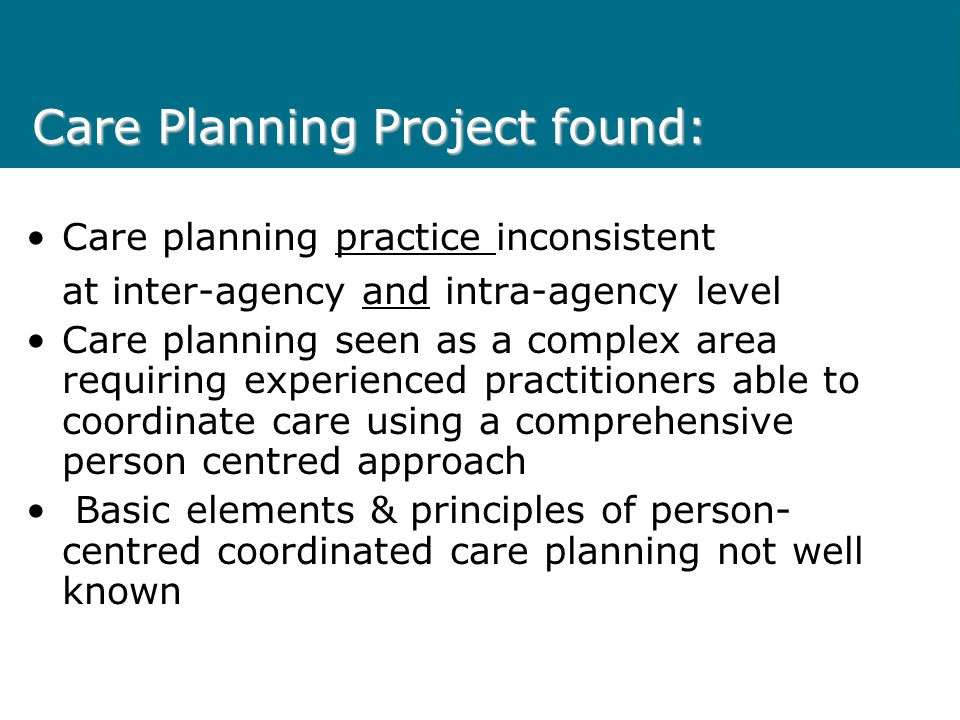 Care Planning Project found:
