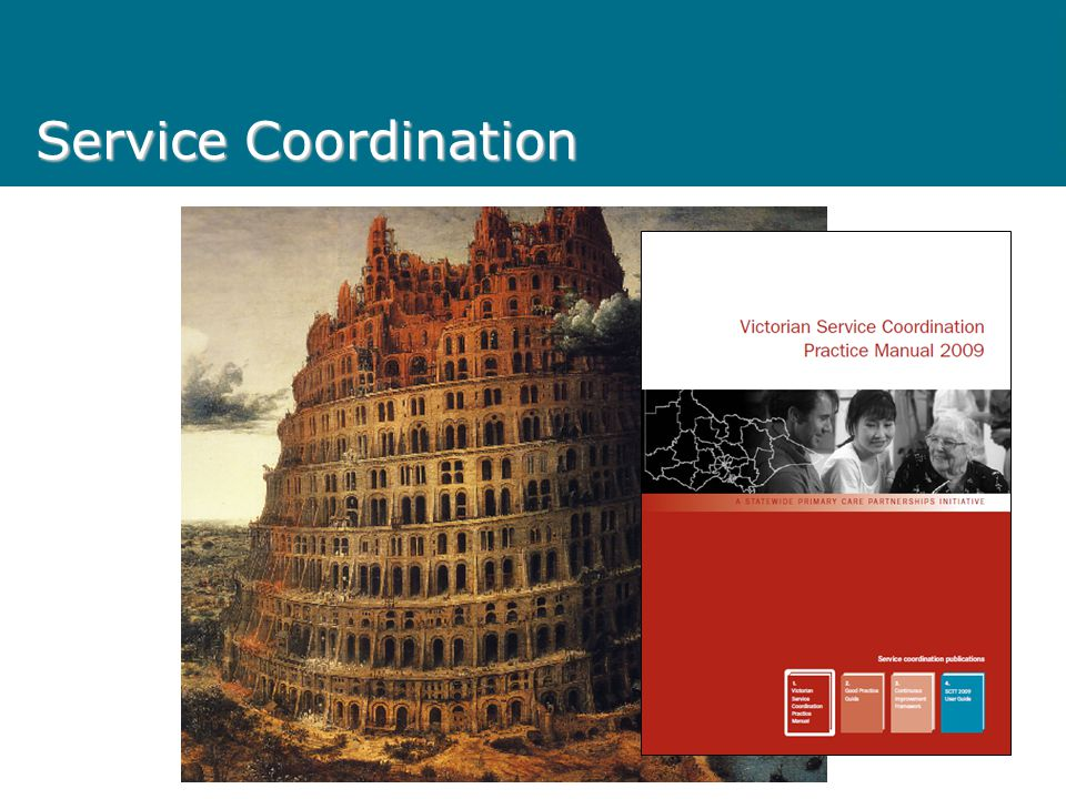 Service Coordination Tower of Babel
