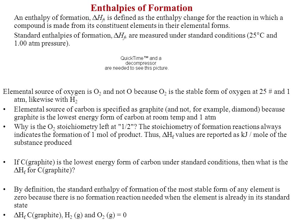 Enthalpies of Formation - ppt video online download
