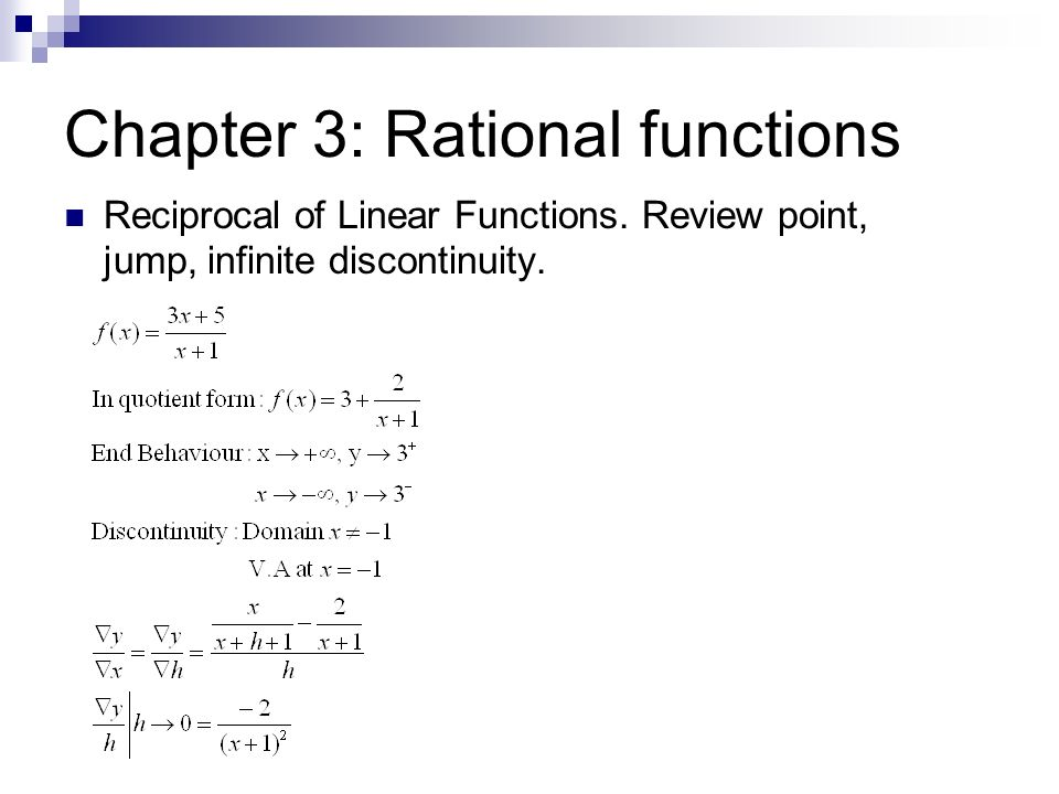 Chapter 3: Rational functions