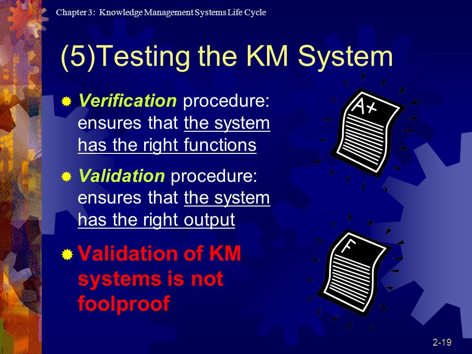 (5)Testing the KM System