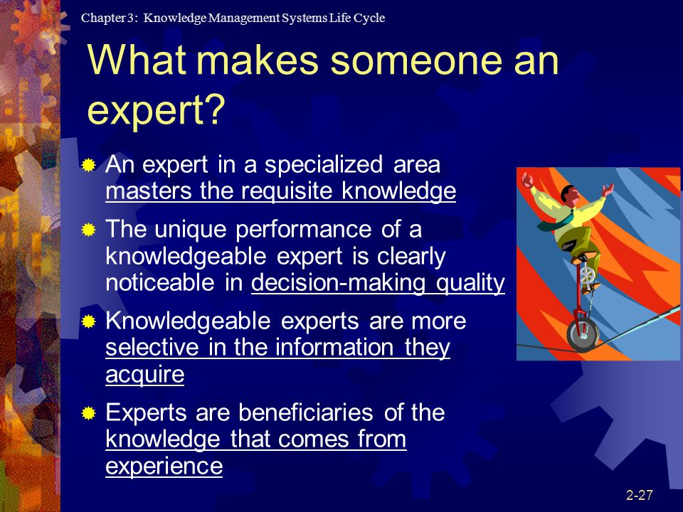What makes someone an expert