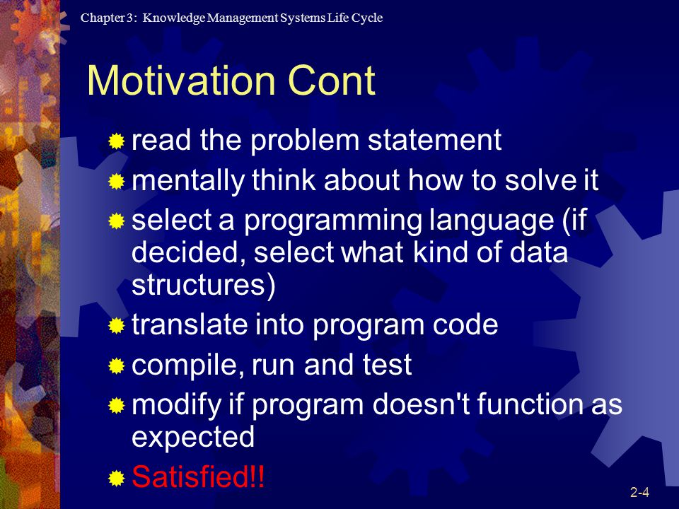 Motivation Cont read the problem statement