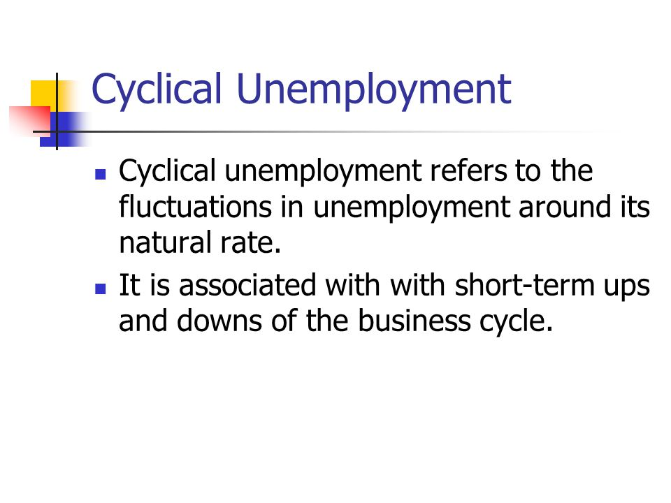 Cyclical Unemployment