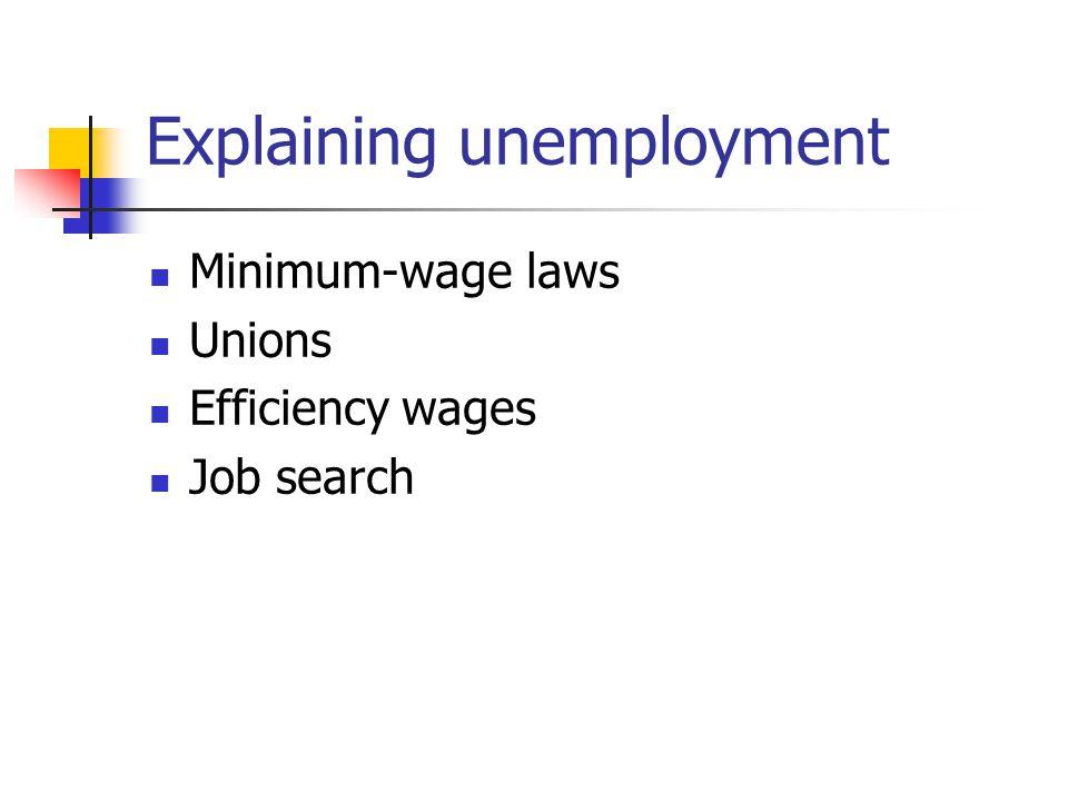 Explaining unemployment