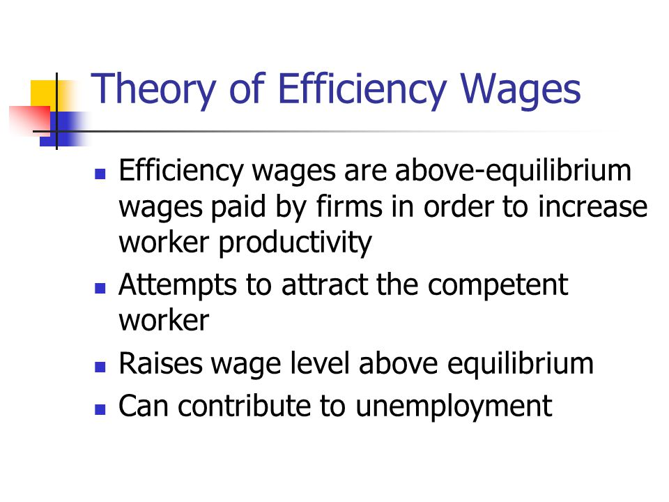 Theory of Efficiency Wages