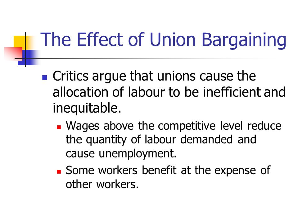 The Effect of Union Bargaining