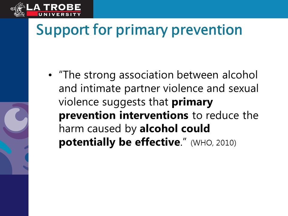 Support for primary prevention
