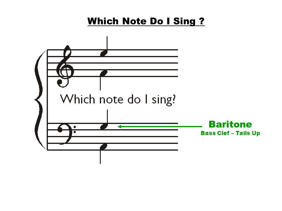 Baritone Bass Clef – Tails Up