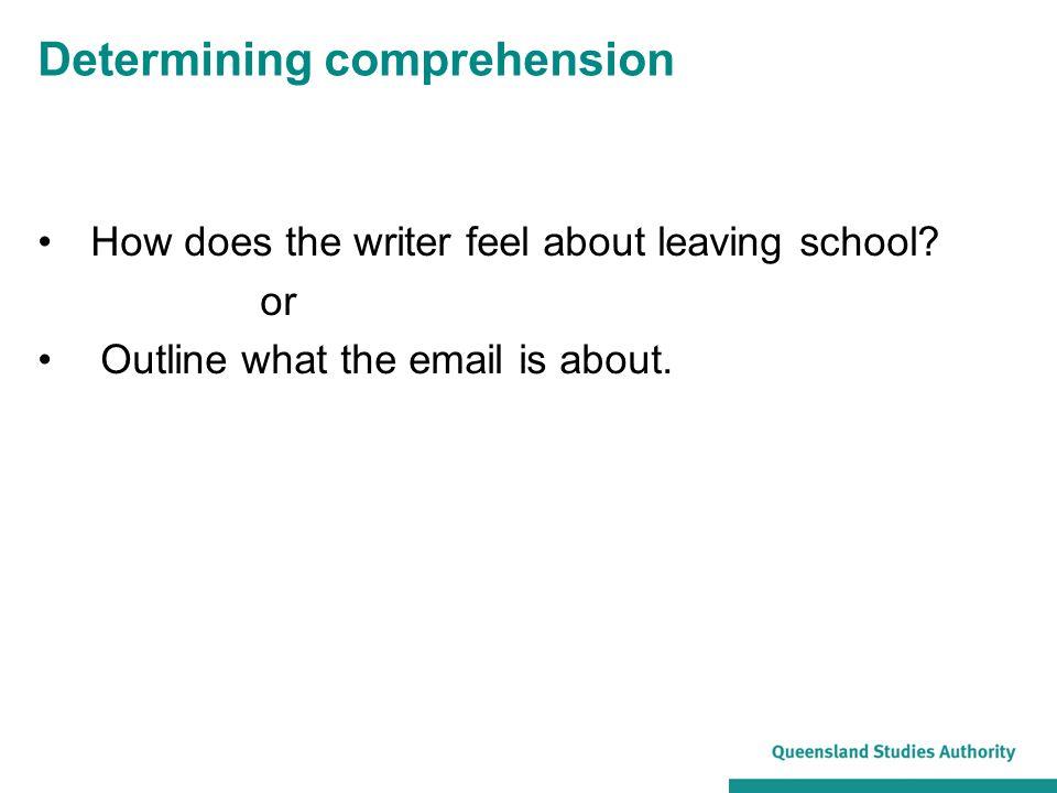 Determining comprehension